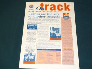 GULF McLAREN F1 GTR 1995 ON TRACK info sheet - #6 Jarama Report/Nurburgring Preview
